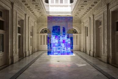 Installation d'art contemporain de l'artiste Etienne Rey dans le Palacio Gomez / Alliance Francaise, La havane, Cuba. 26 avril 2016