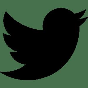 logo twitter noir